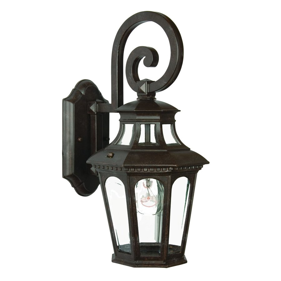 Acclaim Lighting Newcastle 17.5-in H Marbleized Mahogany Outdoor Wall Light