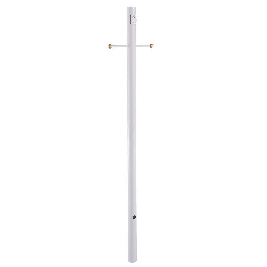 Acclaim Lighting Gloss White 84-in Post Light Pole