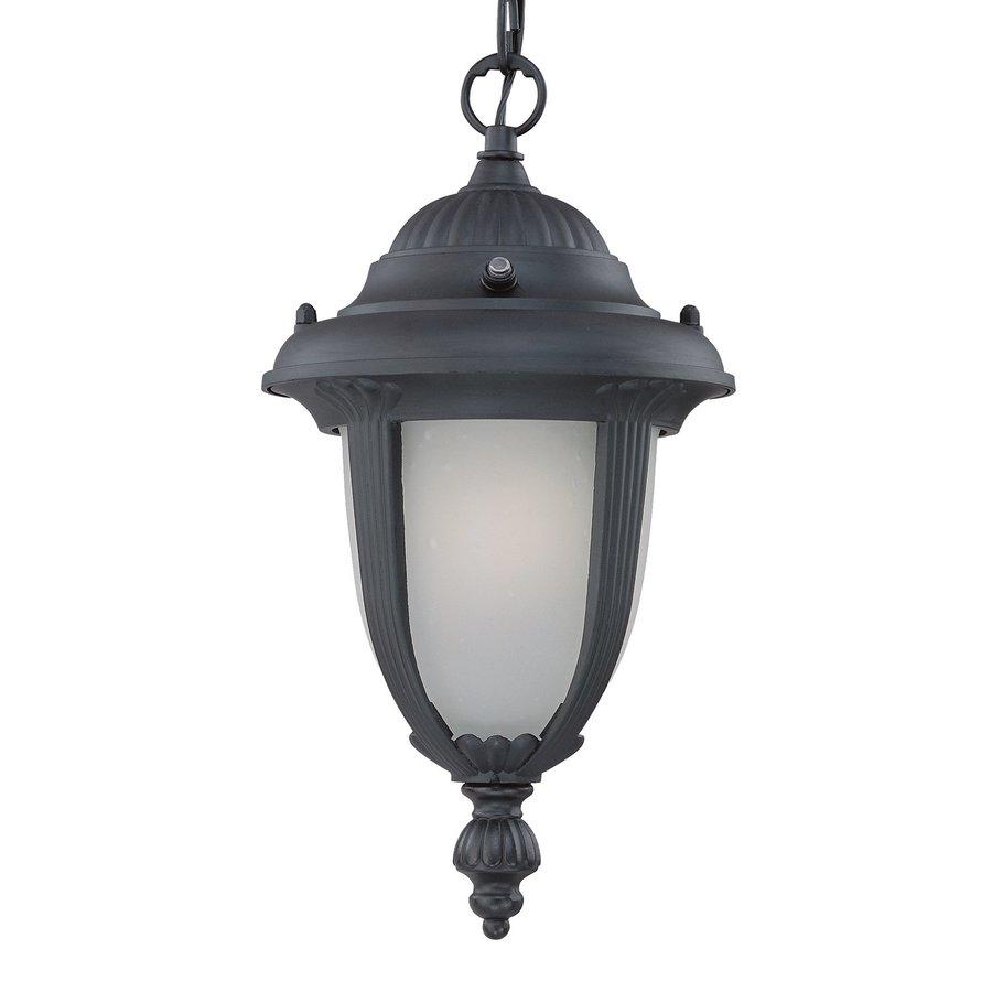 Acclaim Lighting Monterey 14-in Matte Black Solar Hardwired Outdoor Pendant Light ENERGY STAR