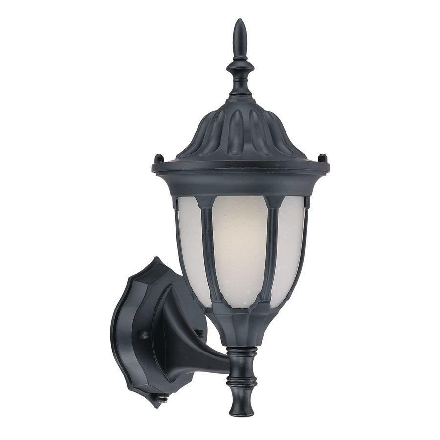 Shop Acclaim Lighting Suffolk 15 In H Matte Black Outdoor Wall Light At Lowes