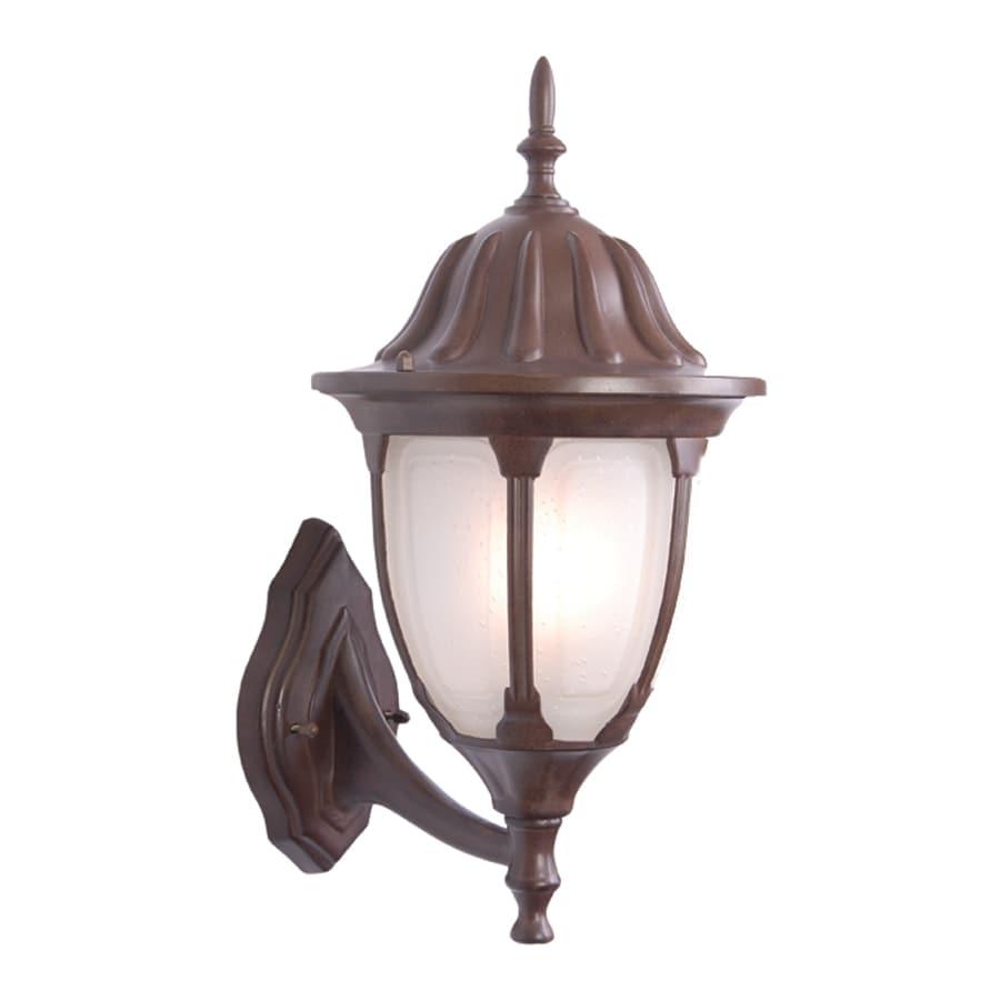 Acclaim Lighting Suffolk 18.25-in H Burled Walnut Outdoor Wall Light