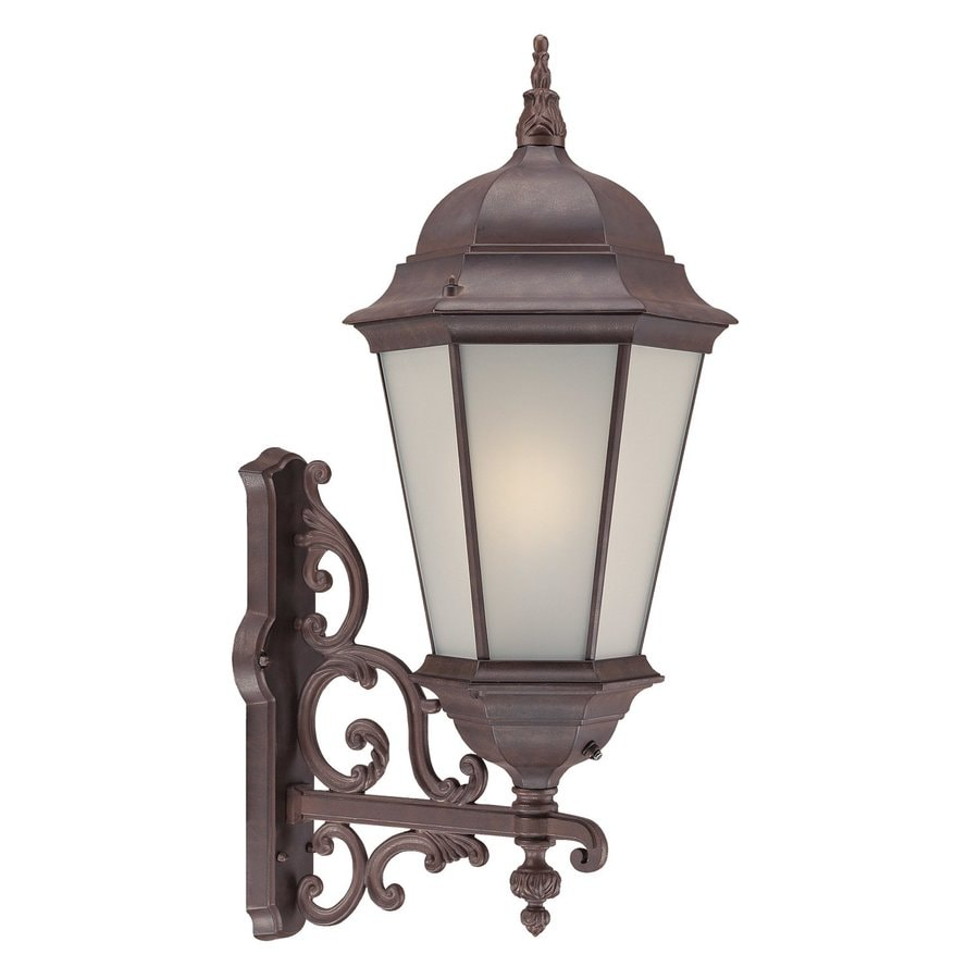 Acclaim Lighting Richmond 30.5-in H Burled Walnut Outdoor Wall Light