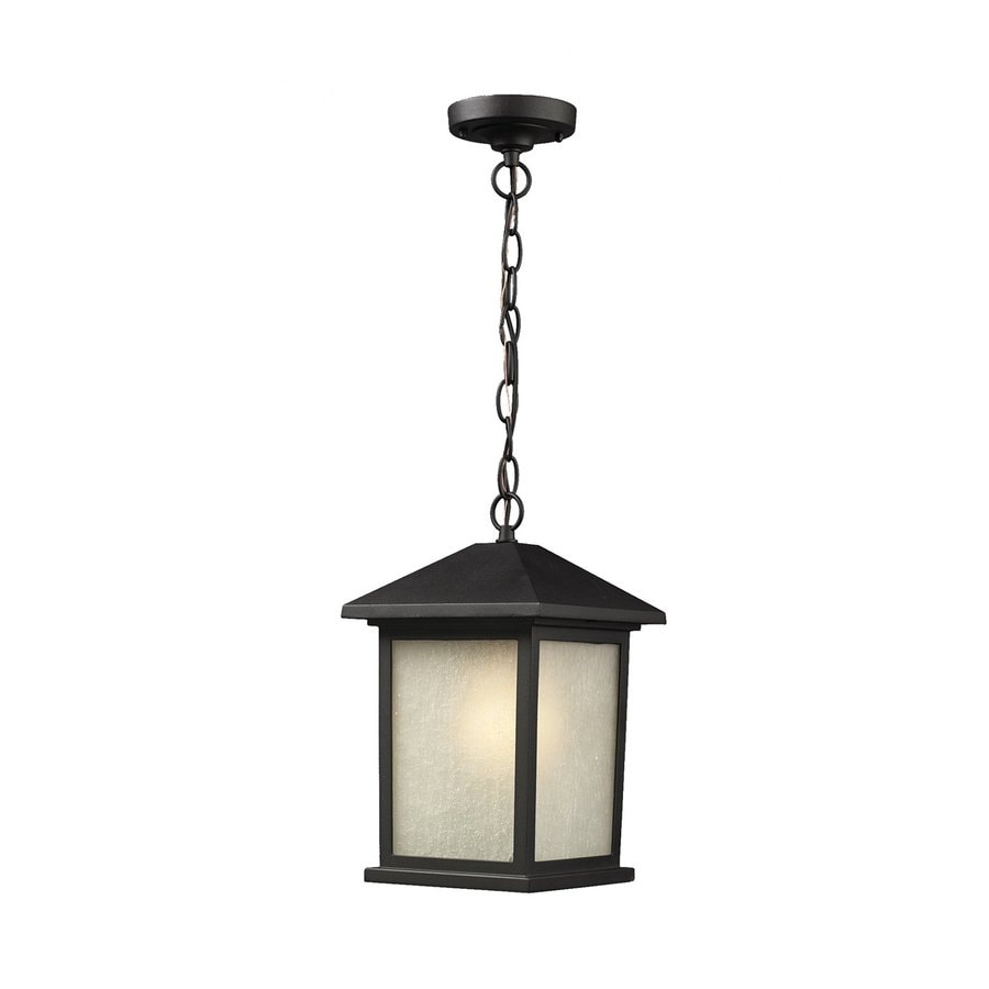 Z-Lite Holbrook 15-in H Black Outdoor Wall Light
