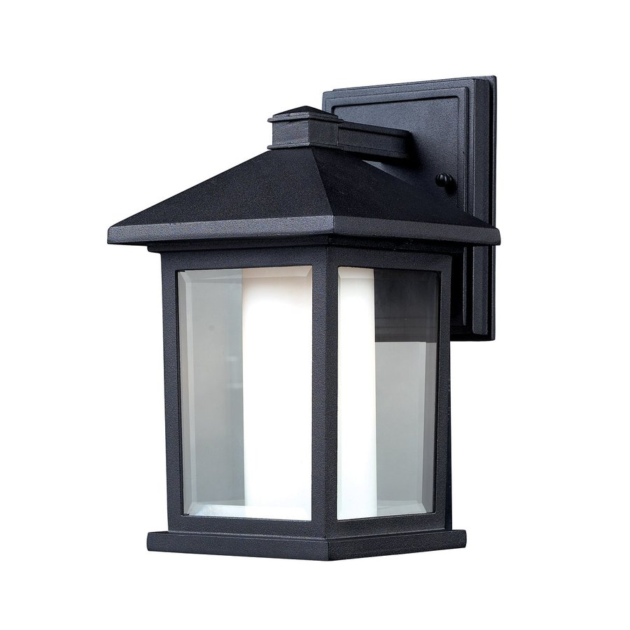 shop z lite mesa 10 in h black outdoor wall light at. Black Bedroom Furniture Sets. Home Design Ideas