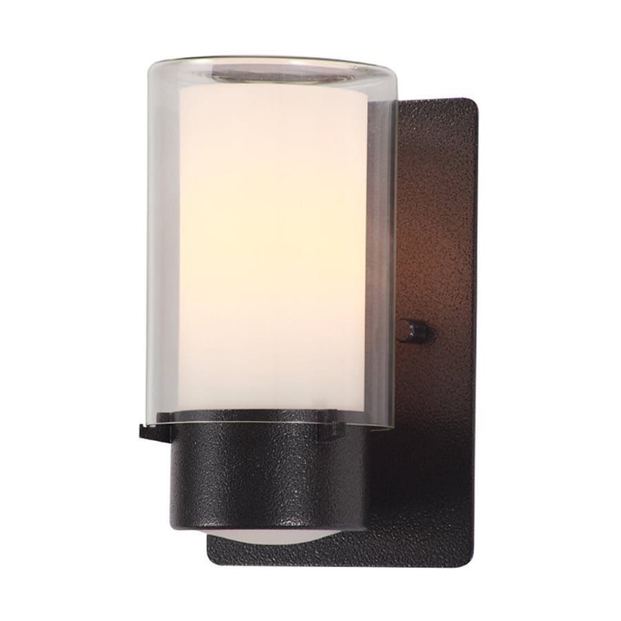 DVI Essex 7.5-in H Hammered Black Outdoor Wall Light