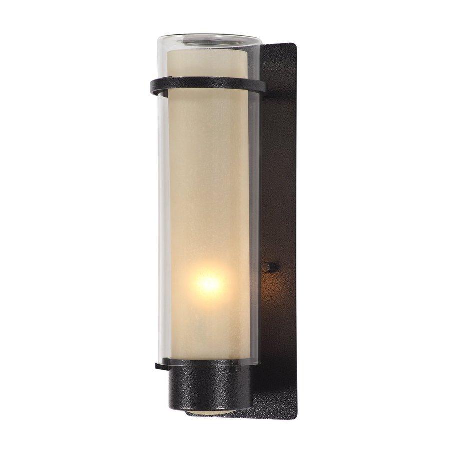 Shop DVI Essex 14-in H Hammered Black Outdoor Wall Light