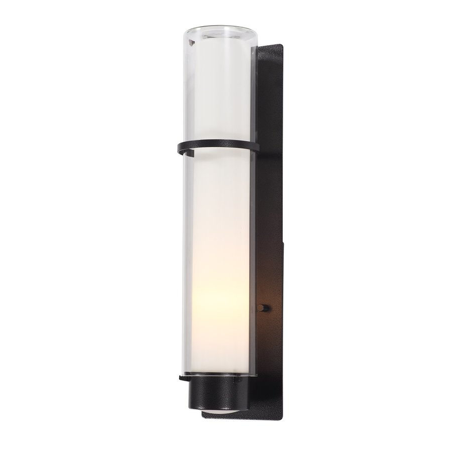 DVI Essex 20-in H Hammered Black Outdoor Wall Light