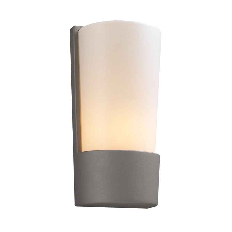 PLC Lighting Chimera 11-in H Architectural Silver Outdoor Wall Light