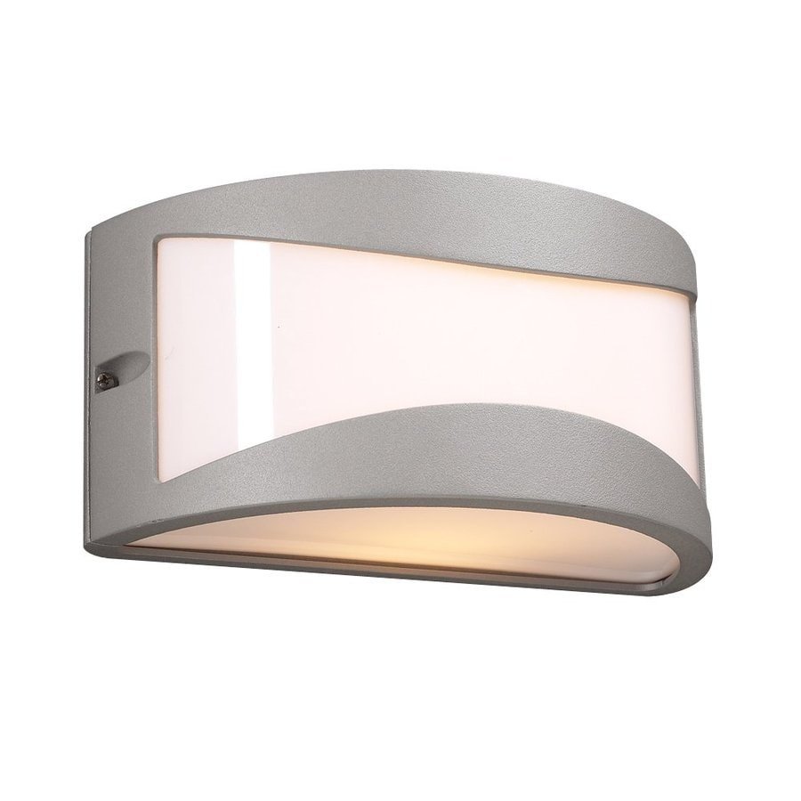 PLC Lighting Baco 4.25-in H Architectural Silver Outdoor Wall Light