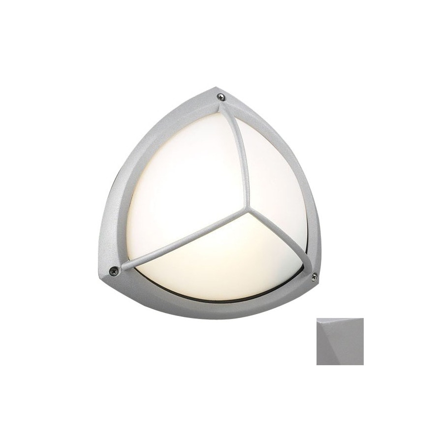 PLC Lighting Canterbury 10-in Gray Outdoor Flush-Mount Light