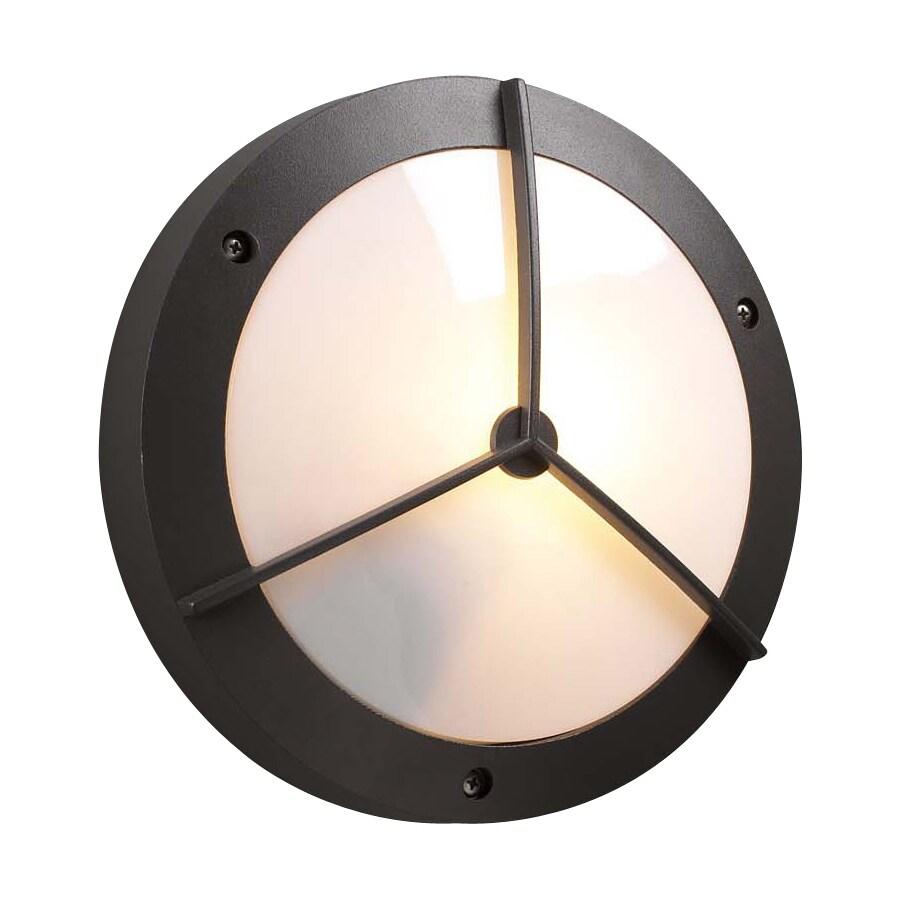 PLC Lighting Cassandra 11-in W Architectural Bronze Outdoor Flush-Mount Light