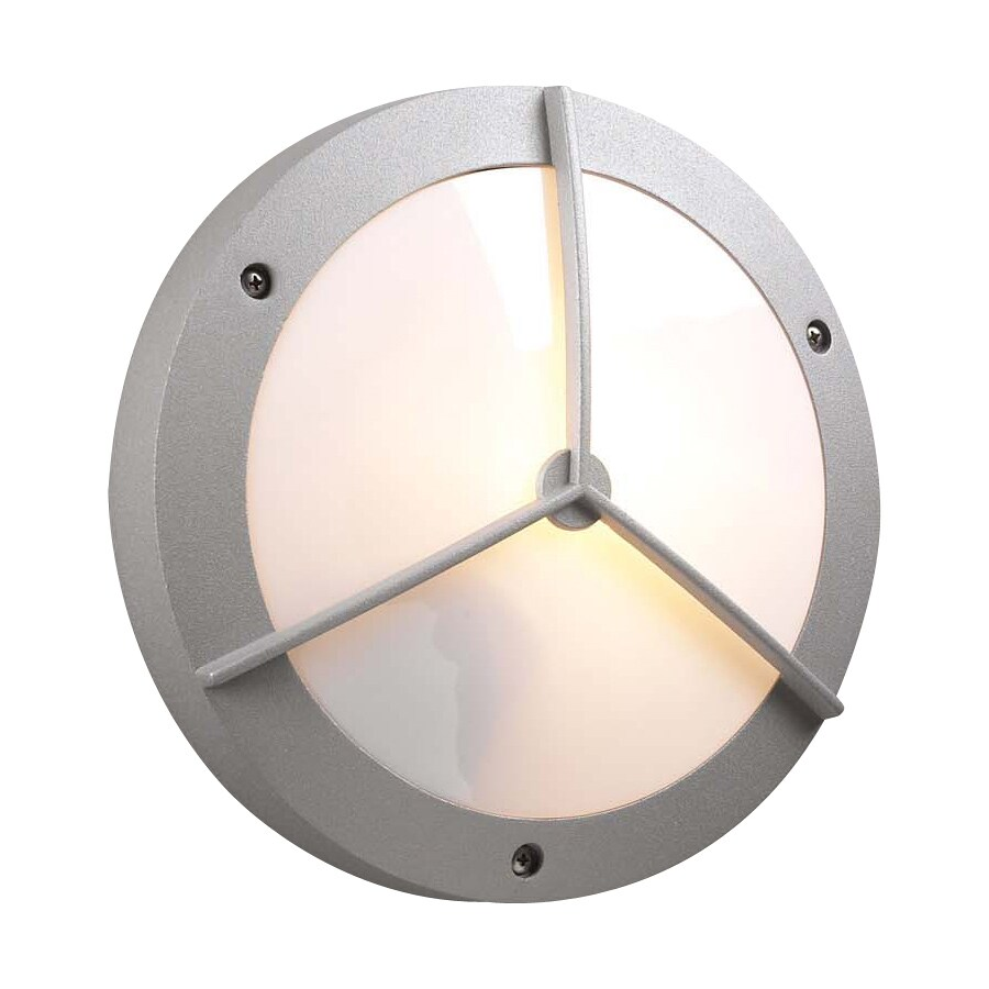 PLC Lighting Cassandra 11-in W Architectural Silver Outdoor Flush-Mount Light