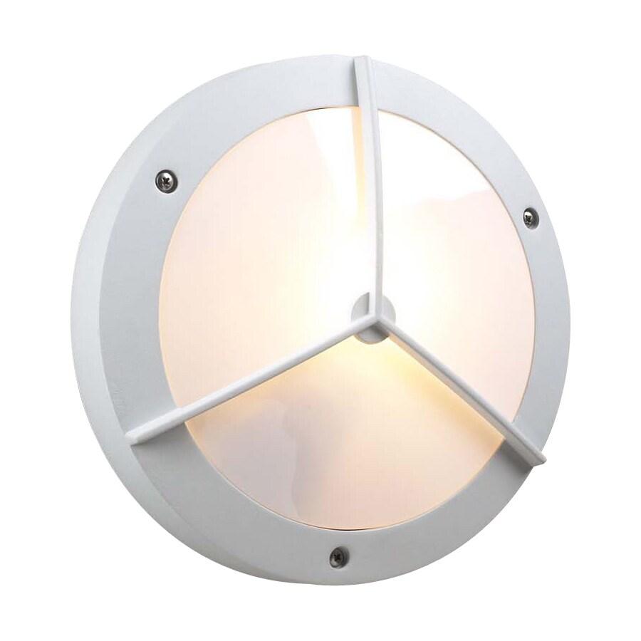 PLC Lighting Cassandra 11-in W White Outdoor Flush-Mount Light