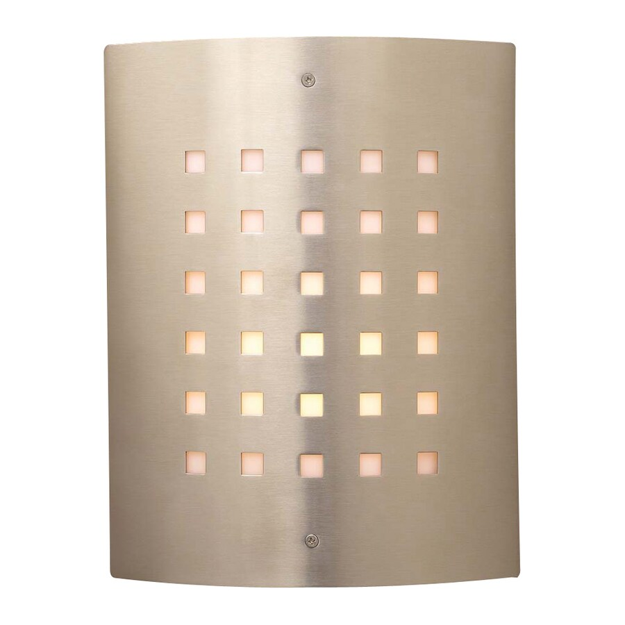 PLC Lighting Figaro 11.75-in H Satin Nickel Outdoor Wall Light