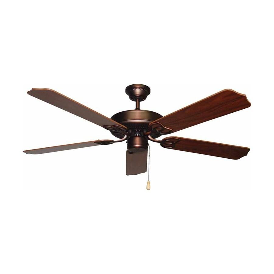 Volume International Minster 52-in Antique Bronze Downrod Mount Indoor Residential Ceiling Fan (5-Blade)