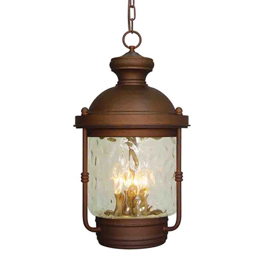 Volume International Sterling 22.25-in Burnished Bronze Hardwired Outdoor Pendant Light