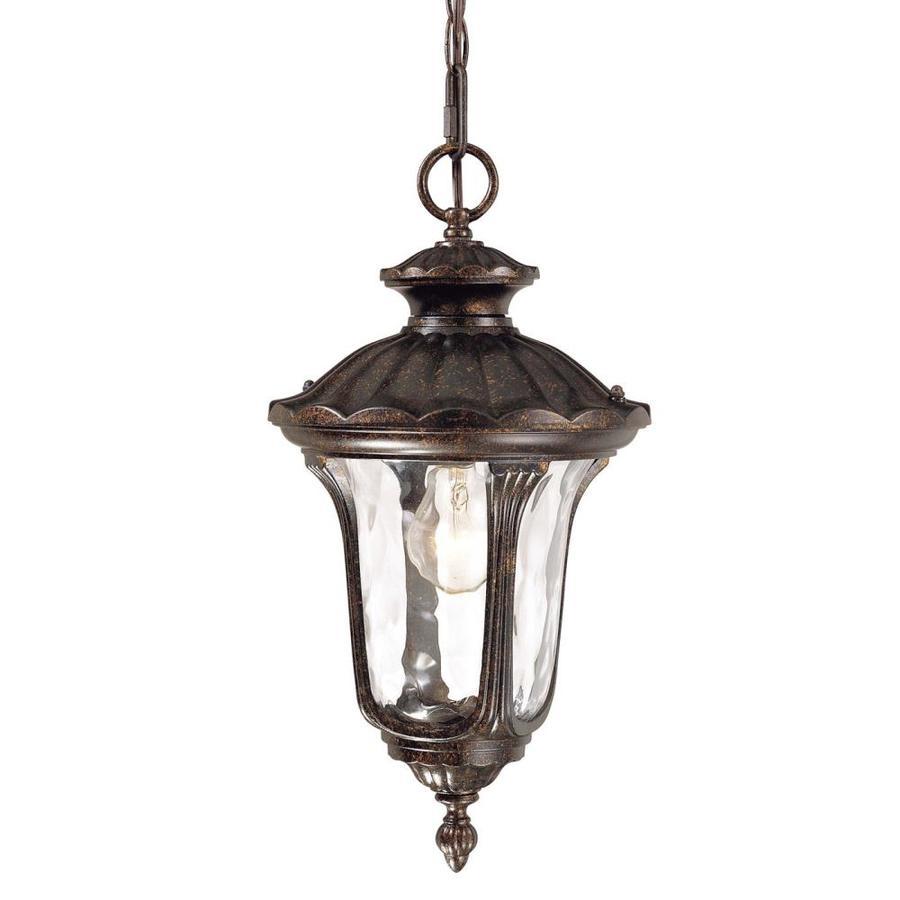 Volume International Tavira 19-in H Bronze Outdoor Pendant Light