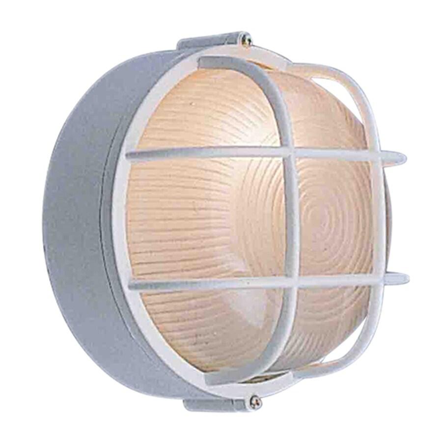 Volume International 7.5-in W White Outdoor Flush Mount Light