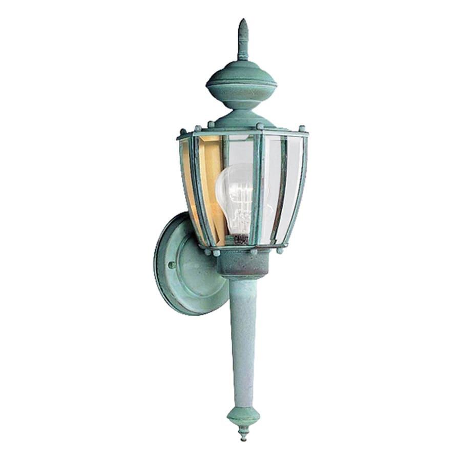 Volume International 18.75-in H Verde Green Outdoor Wall Light