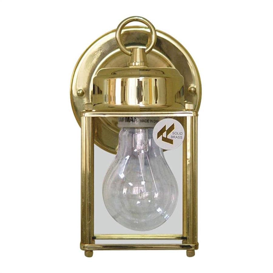Volume International 8-in H Polished Brass Outdoor Wall Light