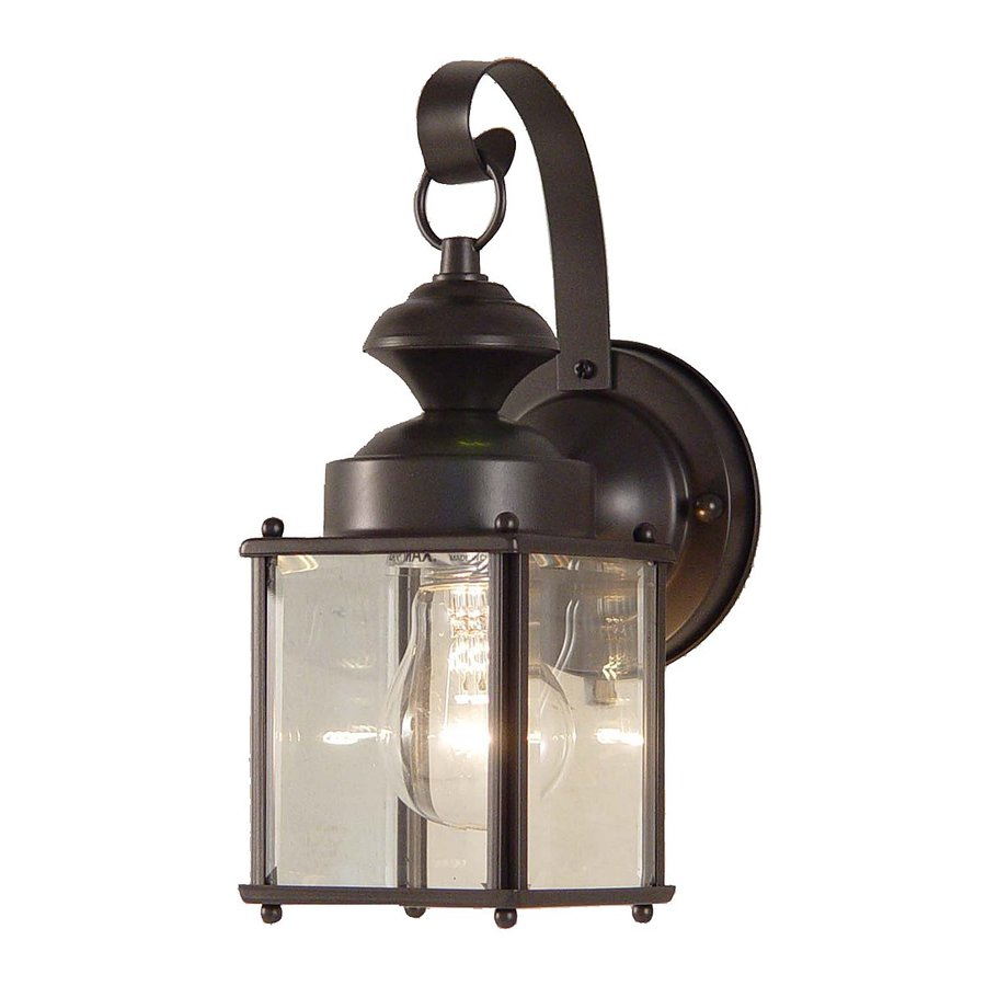 Shop Volume International 11-in H Antique Bronze Outdoor Wall Light at Lowes.com