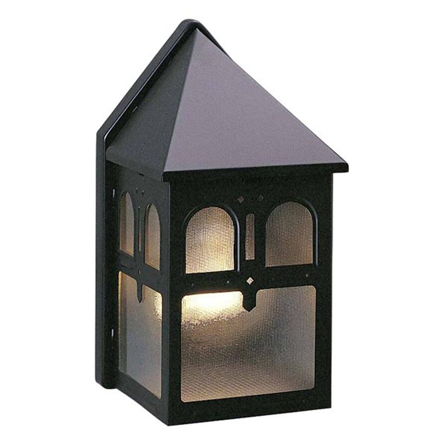 Volume International 8.5-in H Black Outdoor Wall Light