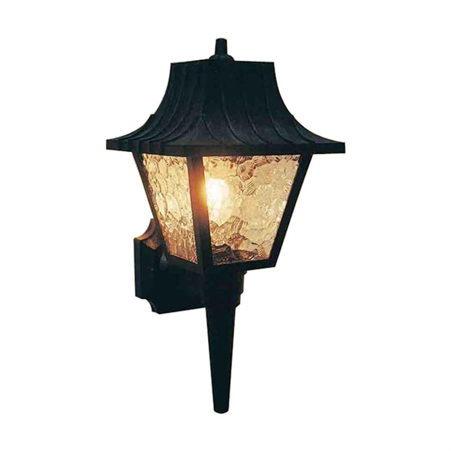 Volume International 6-in H Black Outdoor Wall Light