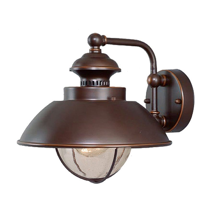 Wall Sconces Nautical : Shop Cascadia Lighting Nautical 10.25-in H Burnished Bronze Outdoor Wall Light at Lowes.com