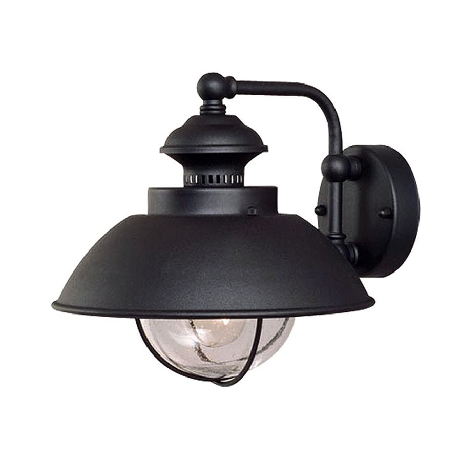 Cascadia Lighting Nautical 10.25-in H Textured Black Outdoor Wall Light