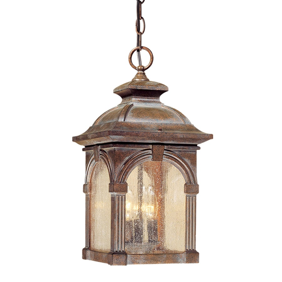 Shop cascadia lighting essex 18 in royal bronze hardwired Outdoor pendant lighting