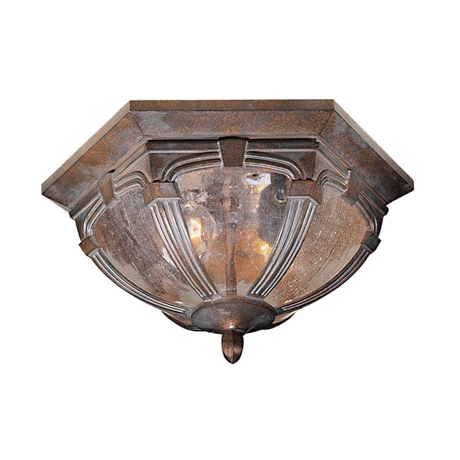 Cascadia Lighting Essex 13-in W Royal Bronze Outdoor Flush-Mount Light
