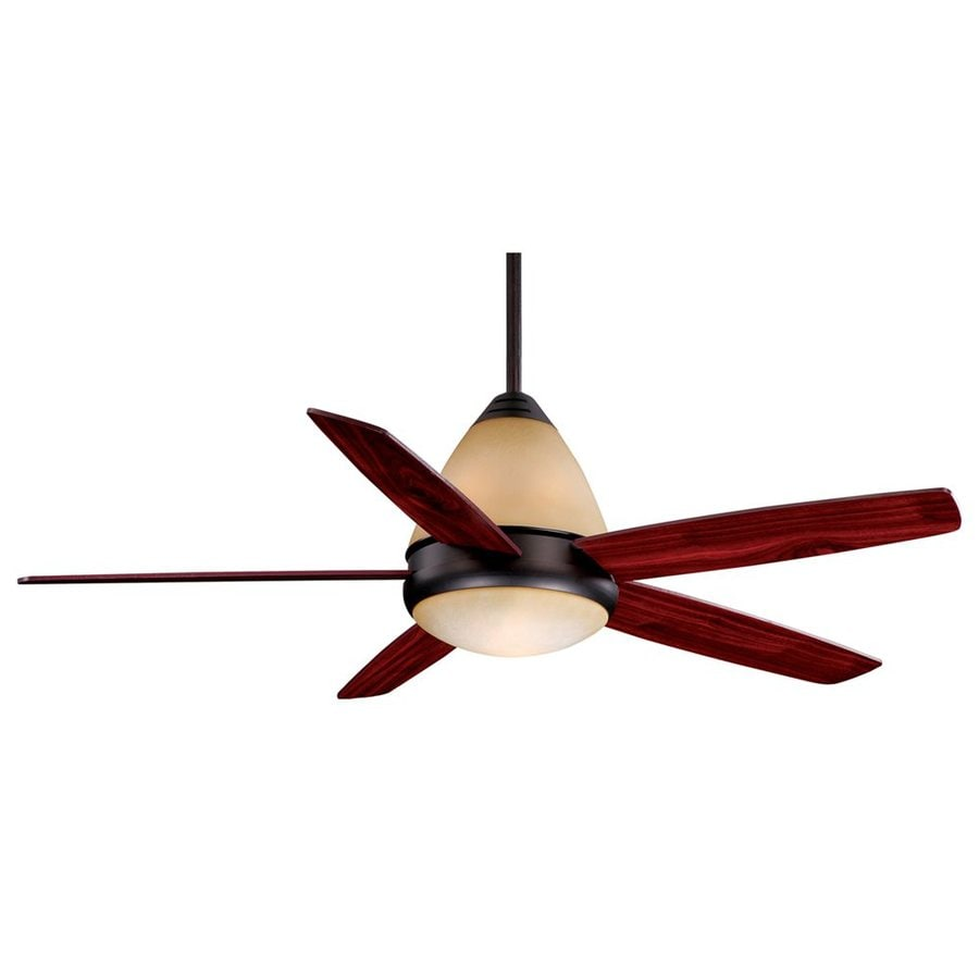 Cascadia Lighting Fresco II 52-in Oil Burnished Bronze Downrod Mount Indoor Ceiling Fan with Light Kit and Remote (5-Blade)