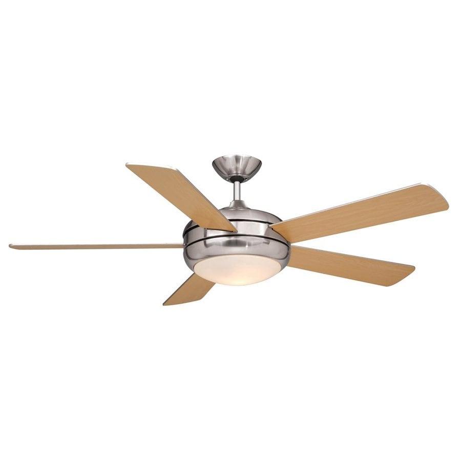 Ceiling fan with 5 light kit : Cascadia lighting rialta in satin nickel downrod