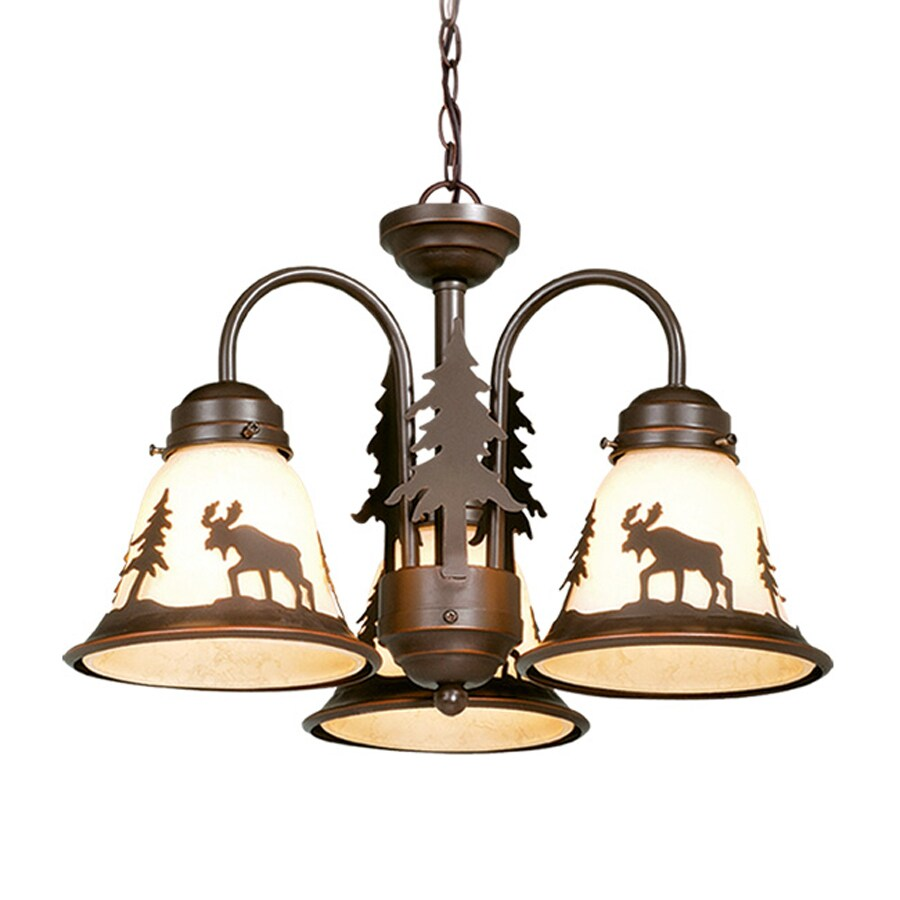 Cascadia Lighting Yellowstone 3-Light Burnished Bronze Incandescent Ceiling Fan Light Kit with Frosted Glass