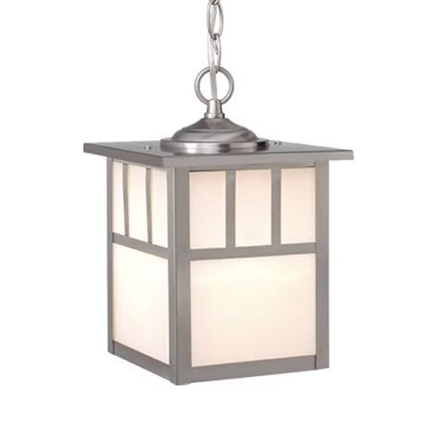 Cascadia Lighting Mission 11-in Stainless Steel Hardwired Outdoor Pendant Light