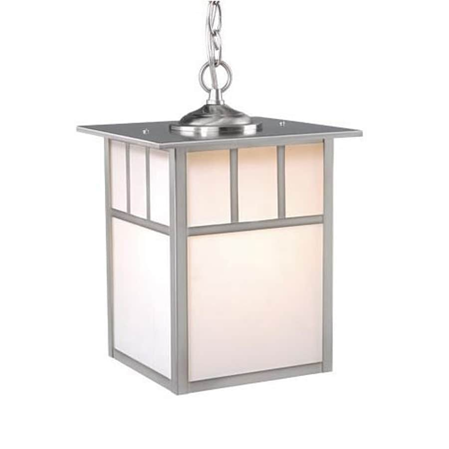 Cascadia Lighting Mission 12.5-in Stainless Steel Hardwired Outdoor Pendant Light