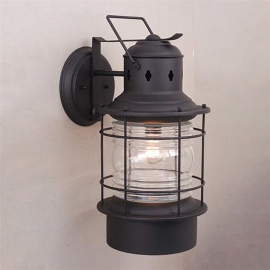 Cascadia Lighting Nautical 18-in H Textured Black Outdoor Wall Light