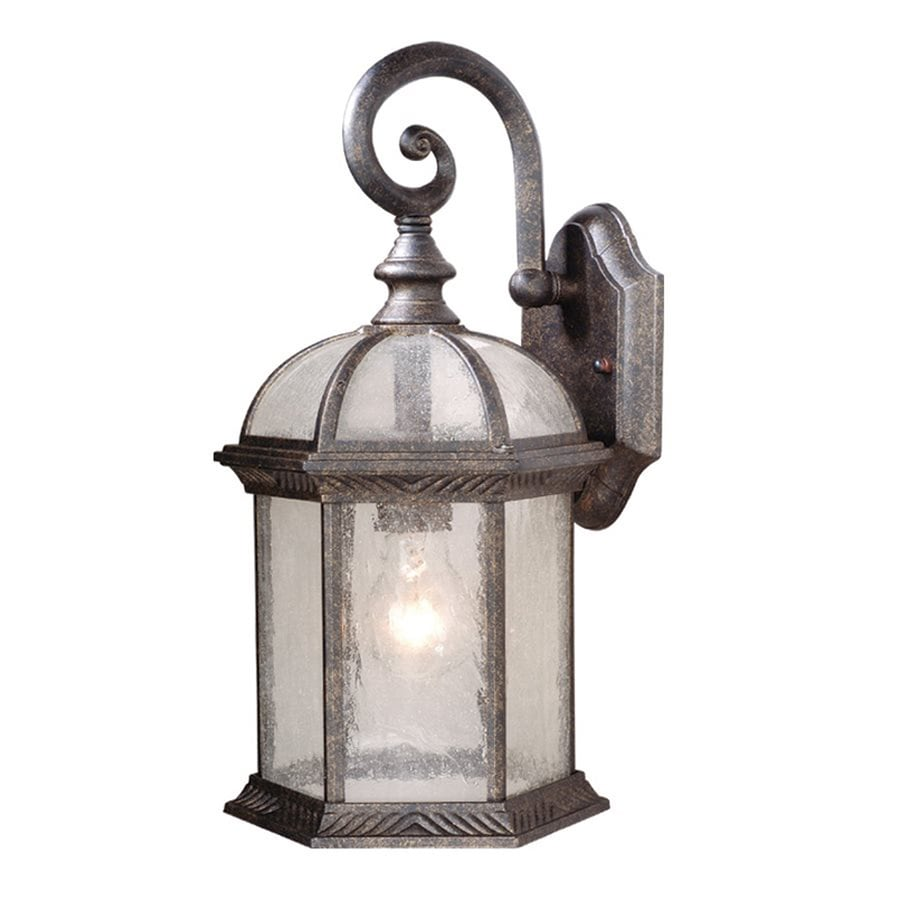 Cascadia Lighting Chateau 16-in H Gold Stone Outdoor Wall Light