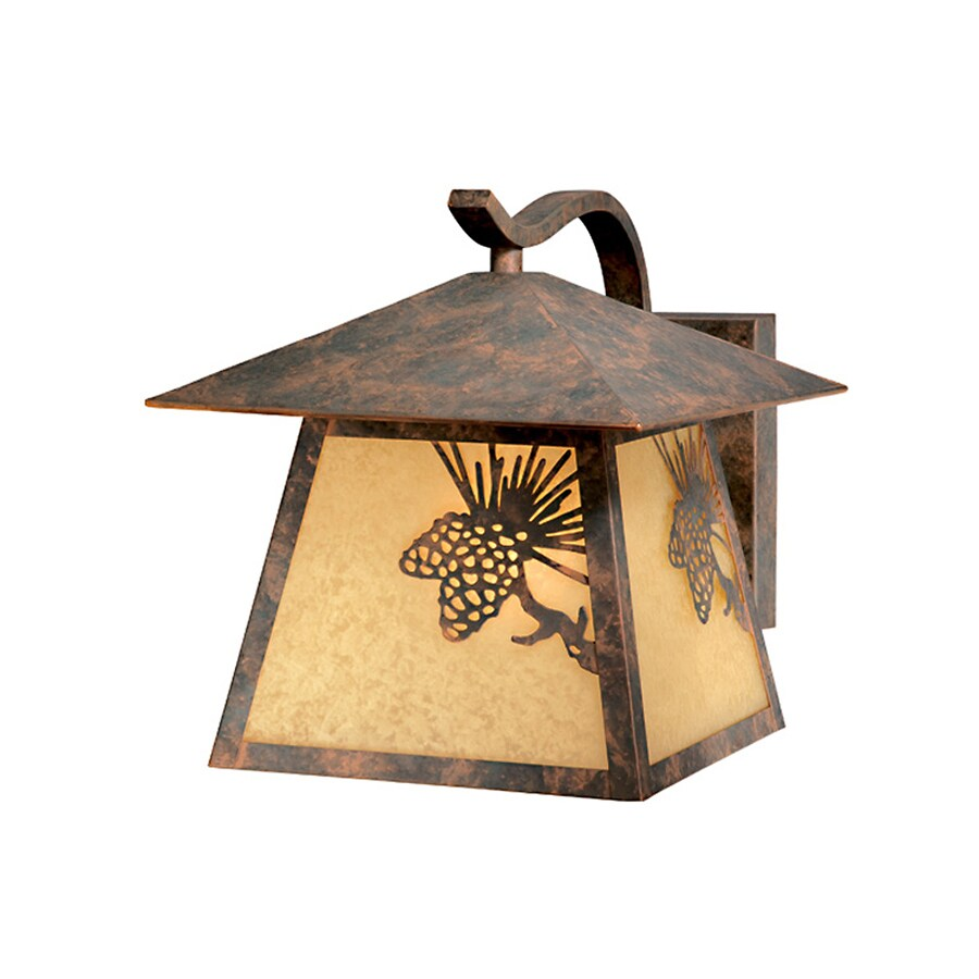 Cascadia Lighting Whitebark 10.25-in H Olde-World Patina Outdoor Wall Light
