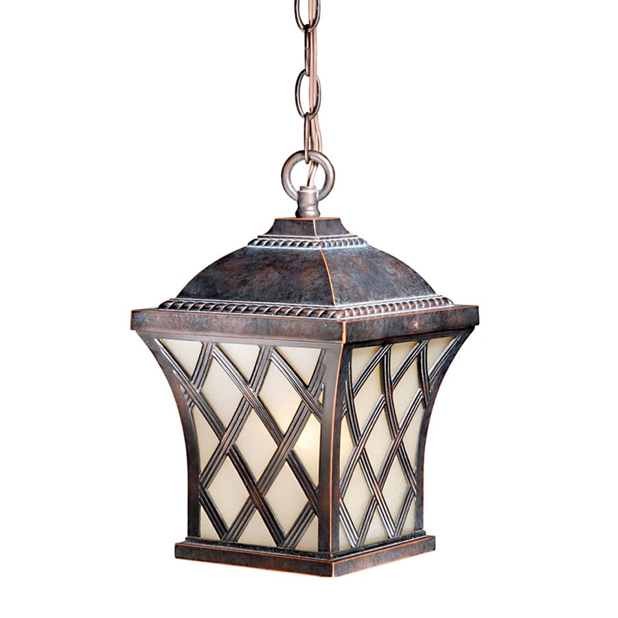 Cascadia Lighting Yorkshire 12-in Coffee Patina Hardwired Outdoor Pendant Light
