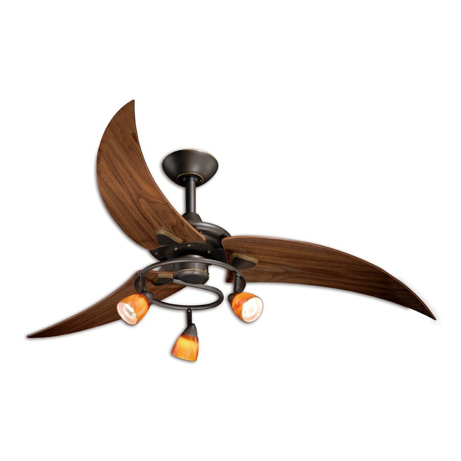 shop cascadia lighting picard 48 in oil rubbed bronze downrod mount indoor ceiling fan with. Black Bedroom Furniture Sets. Home Design Ideas