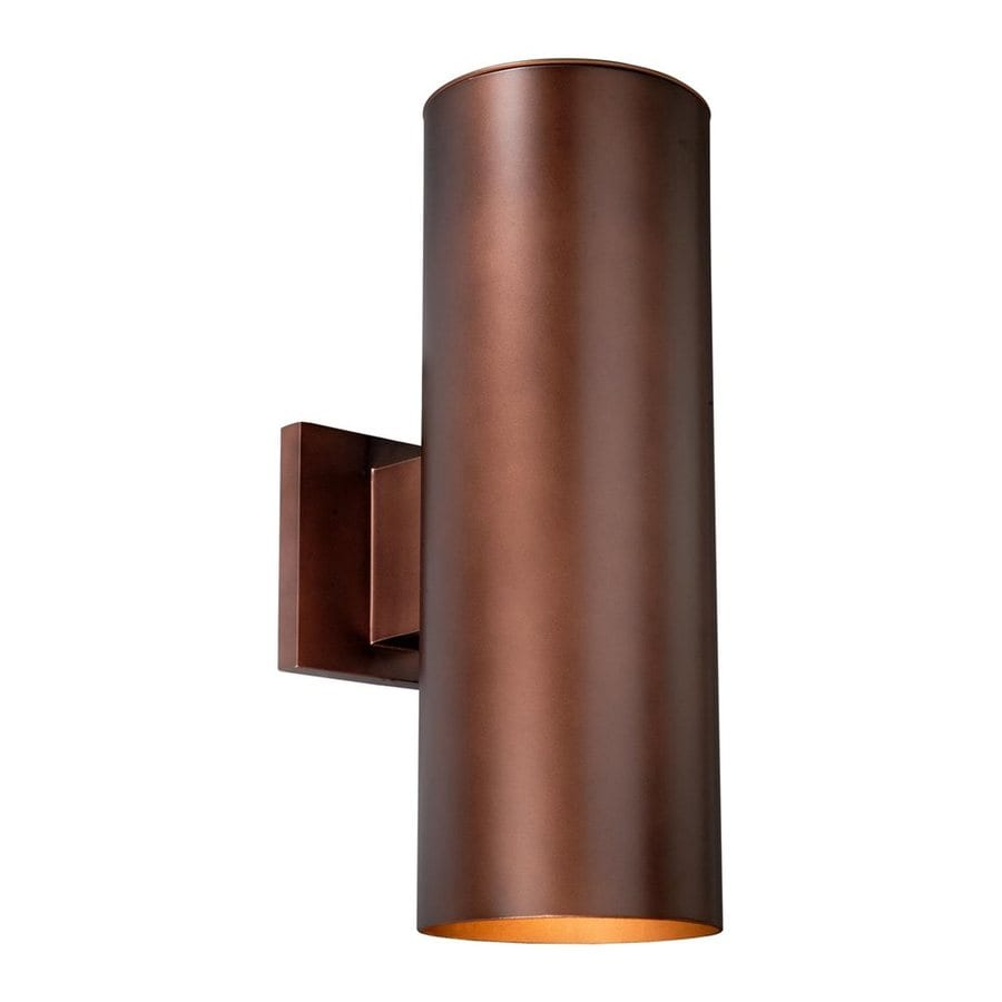 Cascadia Lighting Chiasso 14.25-in H Bronze Outdoor Wall Light