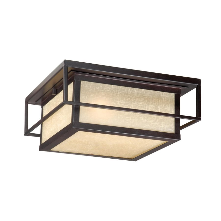 lighting robie 12 in w espresso bronze outdoor flush mount light at. Black Bedroom Furniture Sets. Home Design Ideas