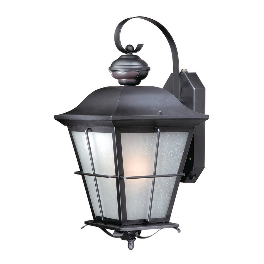 Cascadia Lighting New Haven 18.75-in H Oil-Rubbed Bronze Motion Activated Outdoor Wall Light