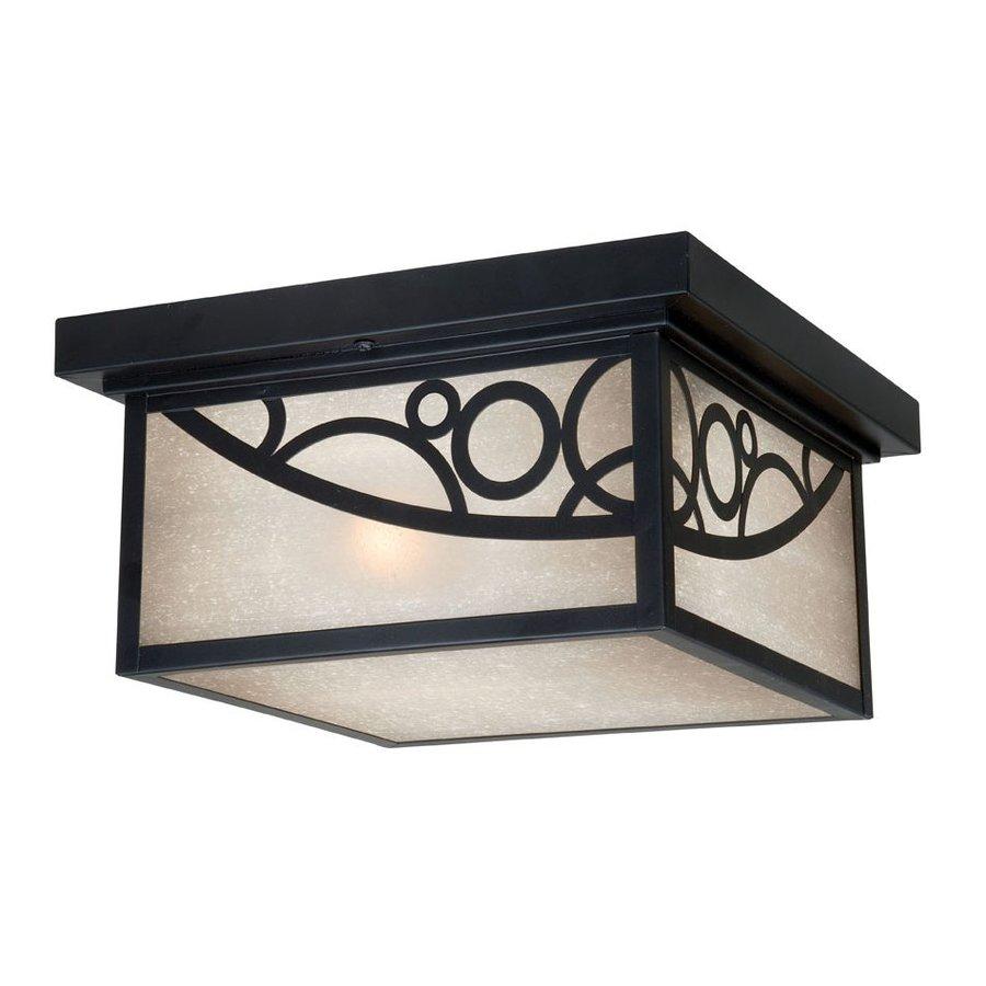 Cascadia Lighting Prosecco 11.5-in W Noble Bronze Outdoor Flush-Mount Light