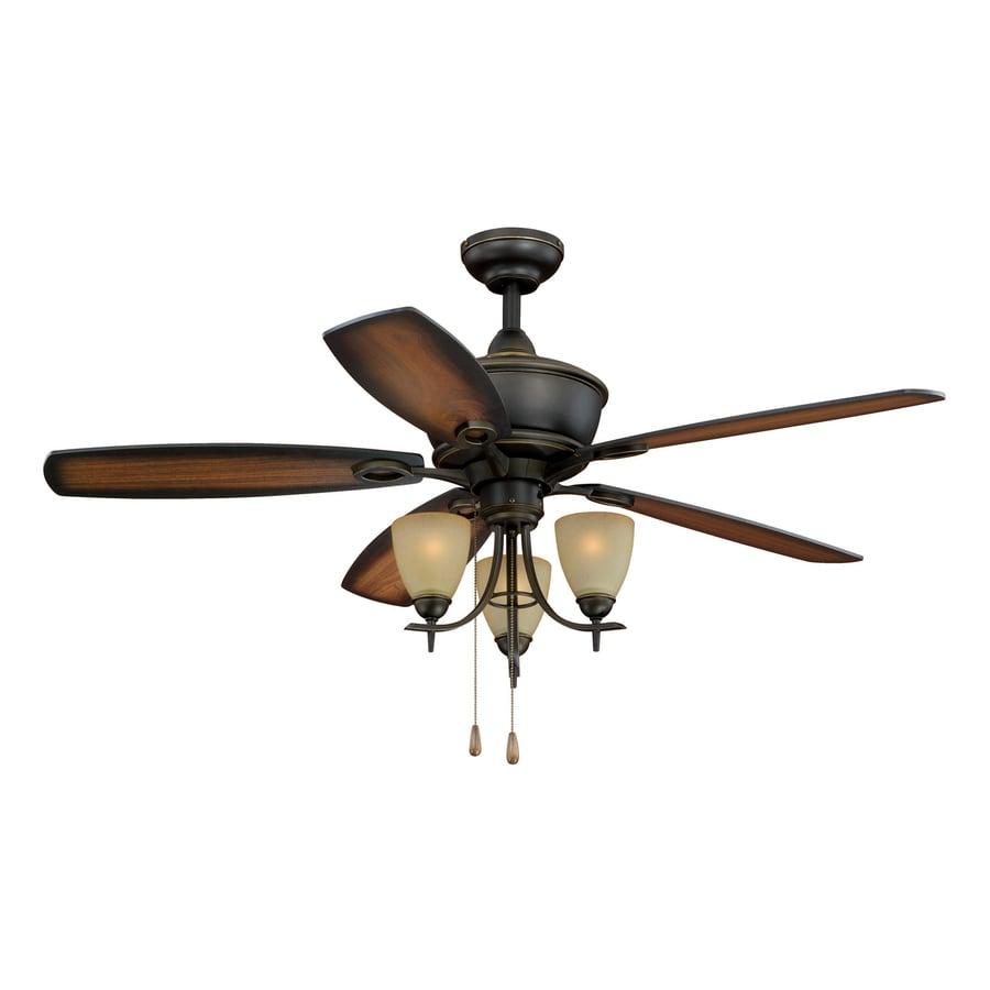 oil rubbed bronze downrod or close mount indoor ceiling fan with light. Black Bedroom Furniture Sets. Home Design Ideas