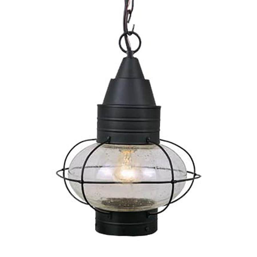 Cascadia Lighting Chatham 17.5-in Textured Black Hardwired Outdoor Pendant Light