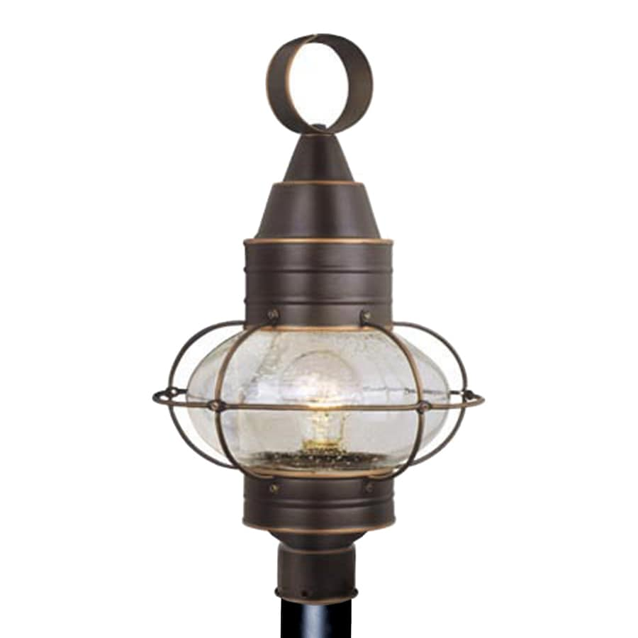 Cascadia Lighting Onion 21.5-in H Burnished Bronze Post Light