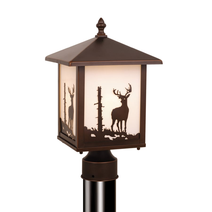 Cascadia Lighting Bryce 14-in H Burnished Bronze Post Light