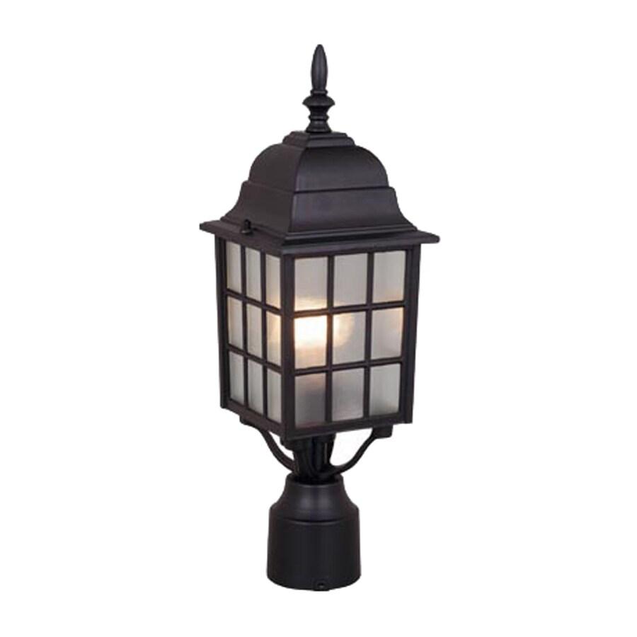 shop cascadia lighting vista 18 in h textured black post. Black Bedroom Furniture Sets. Home Design Ideas